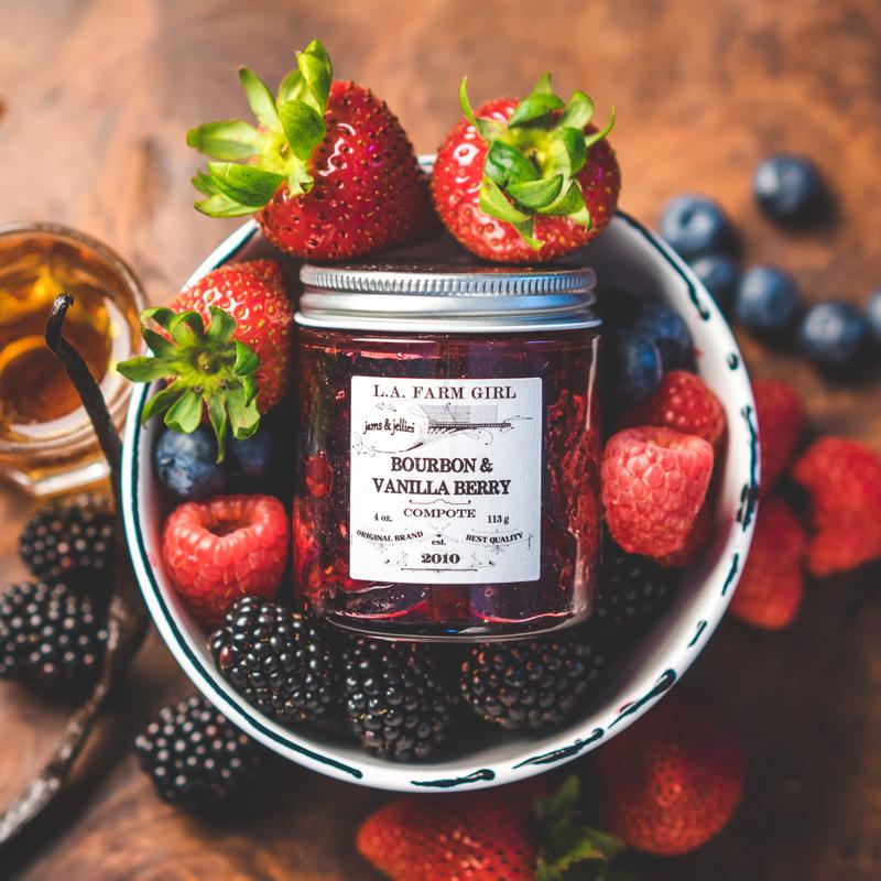 L.A. Farm Girl | Bourbon Vanilla Berry Compote