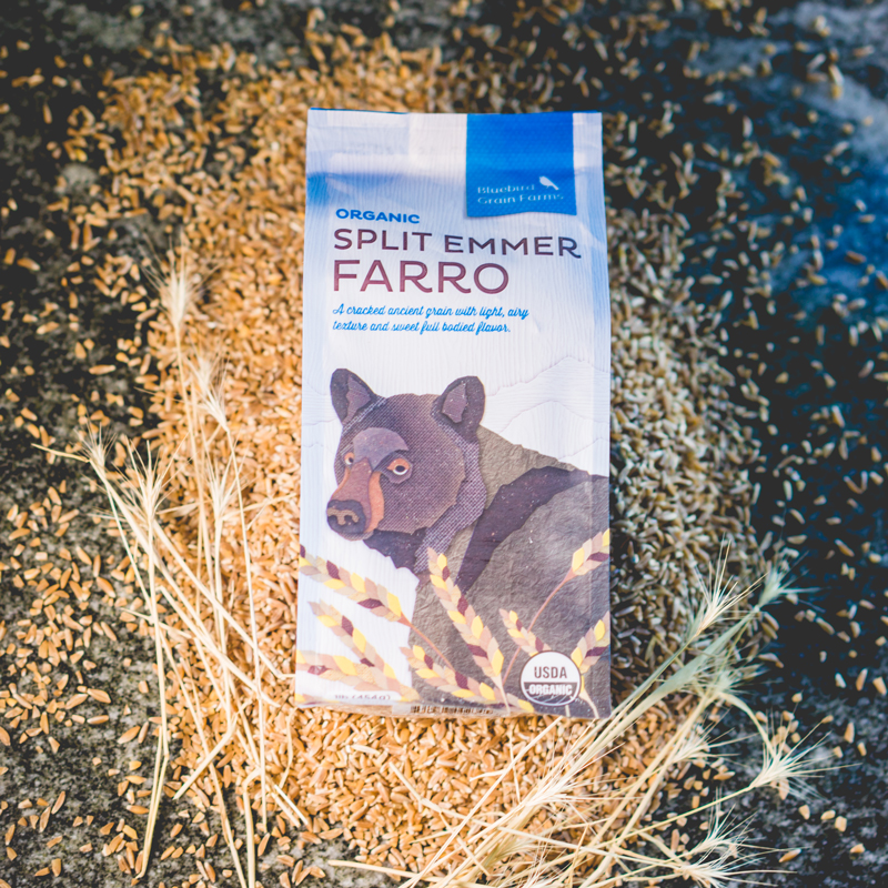 Split Emmer Farro | Bluebird Grain Farms