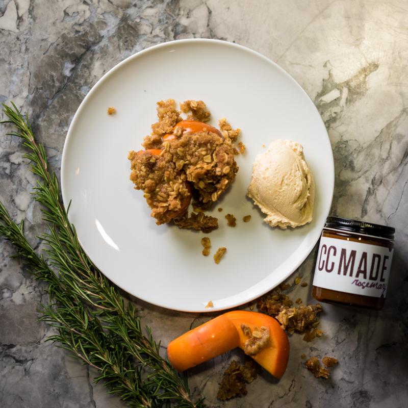 Baked Persimmon | Rosemary Caramel Marscapone