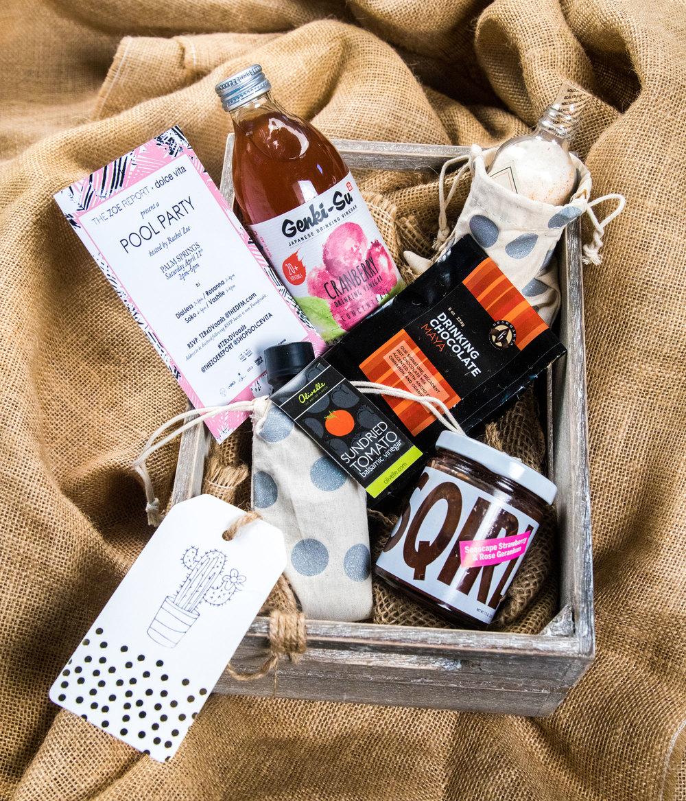 Gift Baskets at Rachel's Zoes dFM Brunch