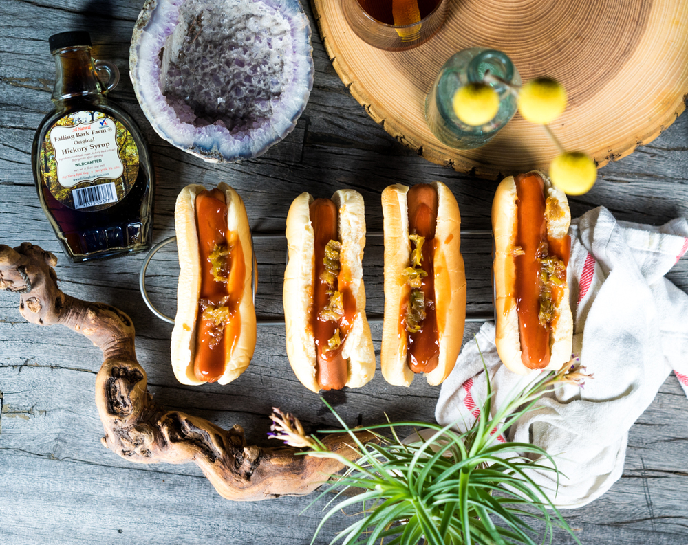 Hot Dogs | Falling Bark Farm Hickory Syrup