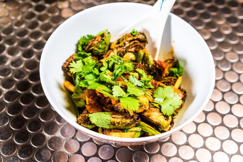 Brussels Sprouts | Bacon | Apple | Kimchi Vinaigrette