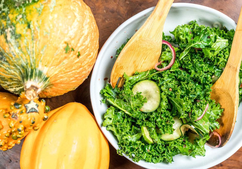 Kale + Cucumber Salad