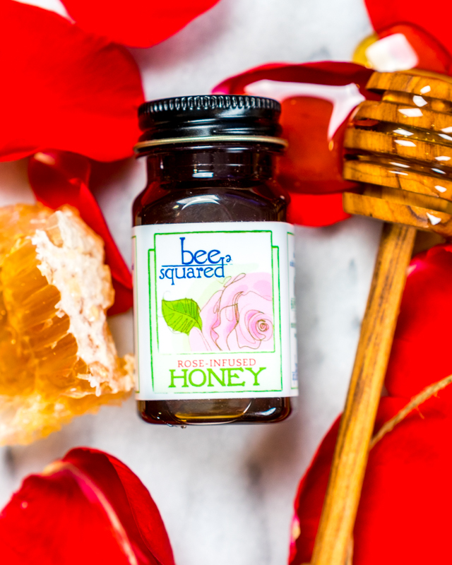 Bee Squared Rose Infused Honey