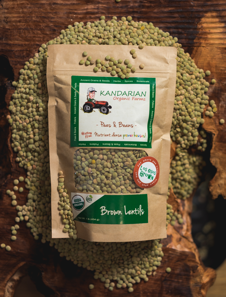 Brown Lentils | Kandarian Organic Farms