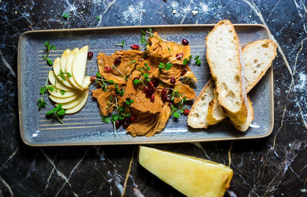 San Juan Gold Cheese | Pomegranate | Baguette | Old Red Salt