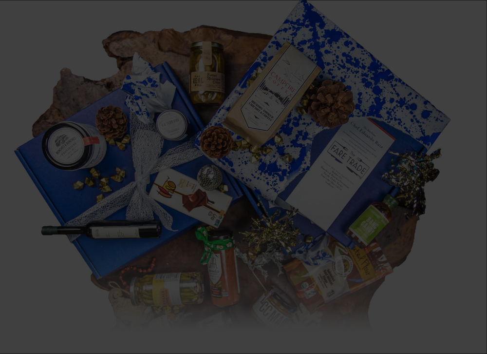 Welcome To Your - Custom Artisan Holiday Gift BoxSauces + Spices