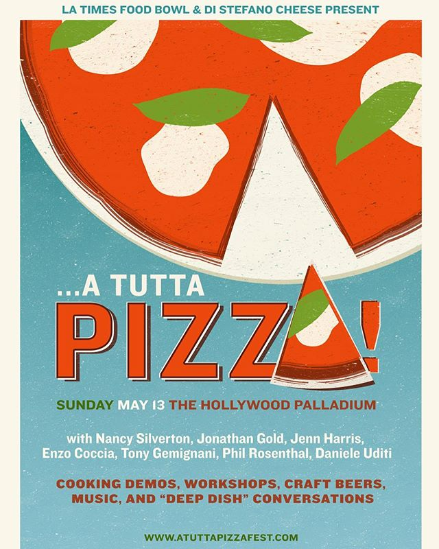 Next on our @LAFOODBOWL agenda? Sunday, May 13 and the A TUTTA PIZZA! FESTIVAL 🍕🍕🍕Complete with food talks, cooking demos, craft beer and more from special guests, we'll definitely be crawling home from the fullness! Grab your tickets via link in bio 👆🏾👆🏿👆🏼