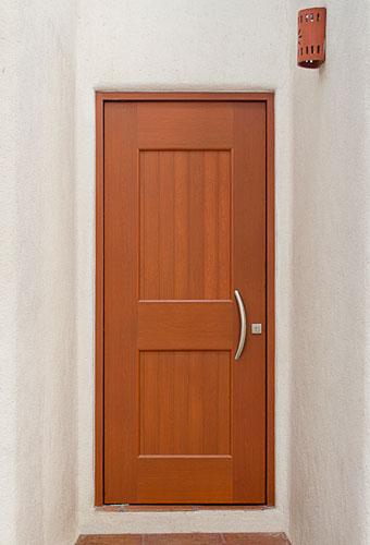 Puertas de aluminio acabado madera la mejor - Puertas de aluminio color madera ...