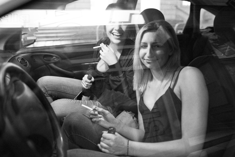 Drunk girls in a car-Vienna