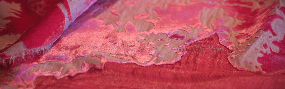 Devore on silk velvet and Orkney silk