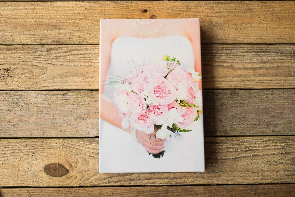 canvas print-miami-flowers-bride