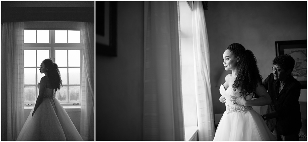 bride getting ready at the biltmore hotel