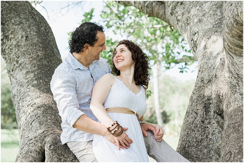 Engagement portrait session in coral gables