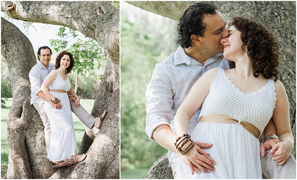 intimate Engagement portrait session in coral gables