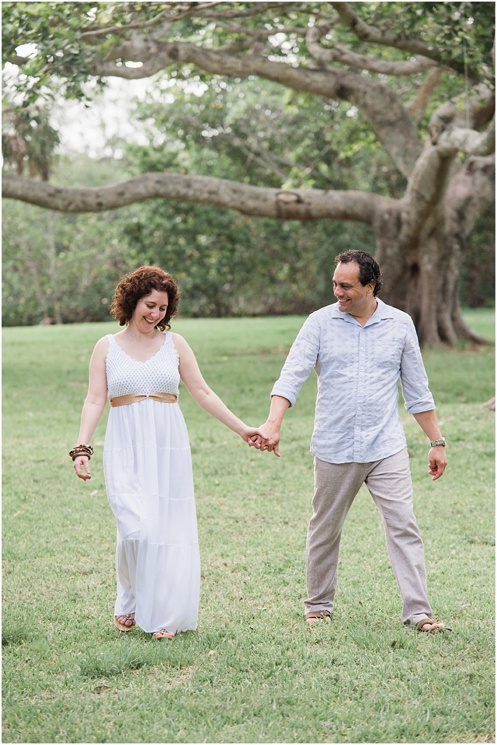 candid Engagement portrait session in coral gables