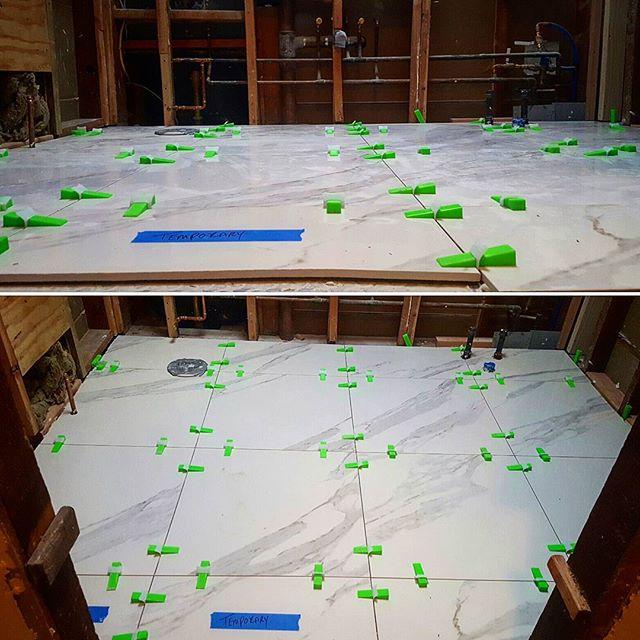 "#Mirage 24""x24"" Rectified Porcelain tile #Ardex #FlexBone #X5 #levtec Lippage Tuning system  #nolippage #levelfloors #TheFlash"
