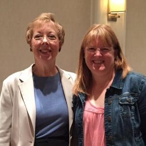 Reading Specialist Judy Livingston (right) pictured with Susan Barton (left).