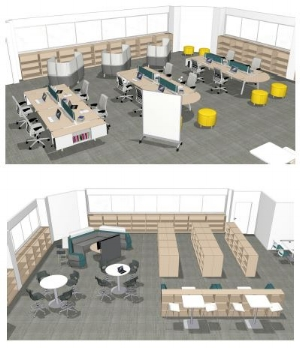 Rendering of Mahtomedi Middle School Media Center