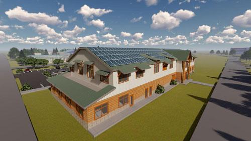 clackamas county extension building proposal rendering