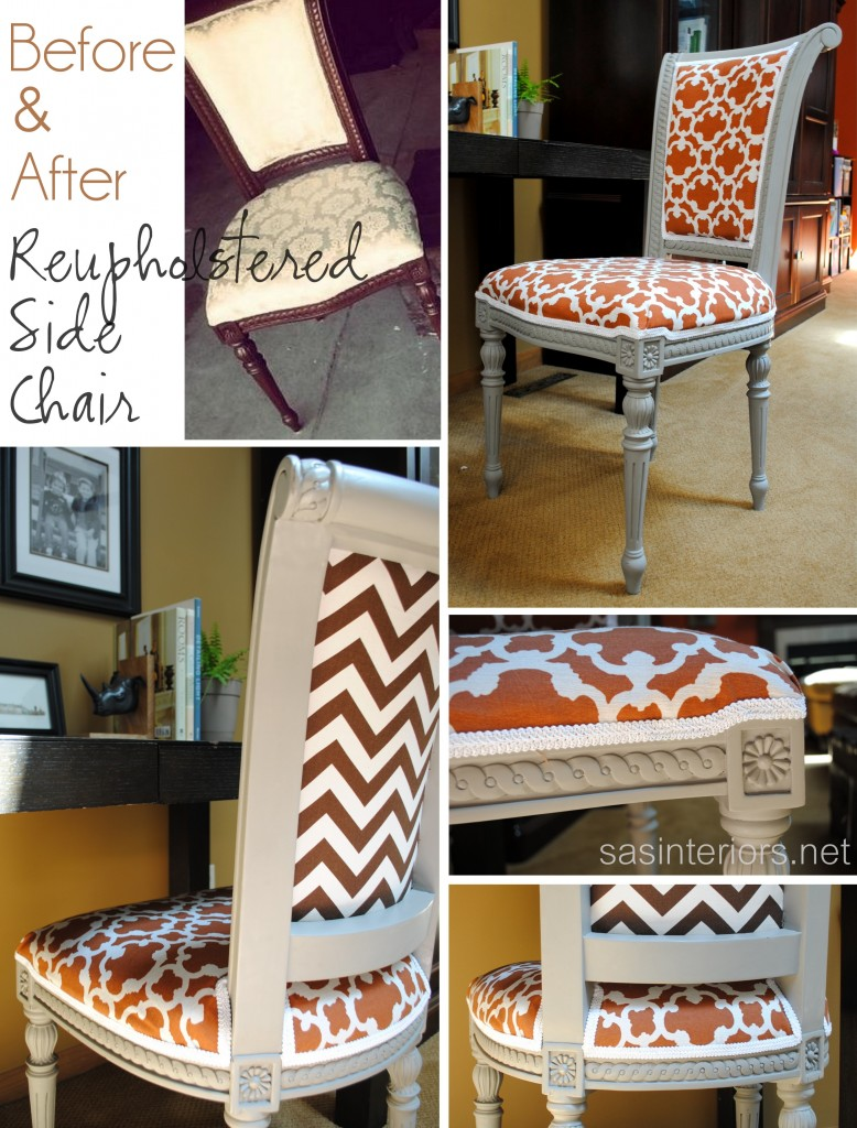 reupholstered chair diy
