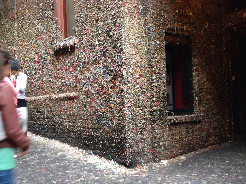 Finally got to see the gum wall in Seattle.