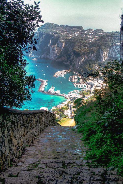 Capri Harbor, Italy