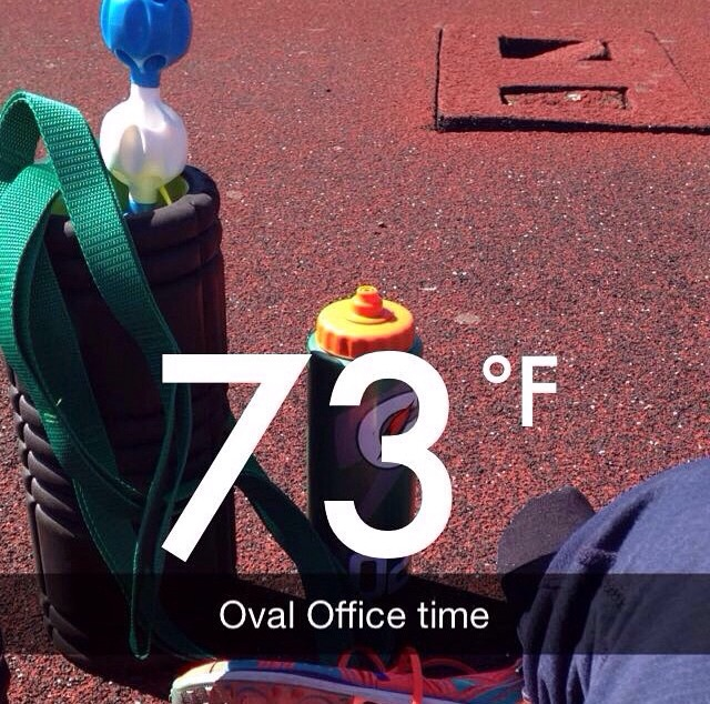 Great weather and snapchat! Follow me @rundom.run