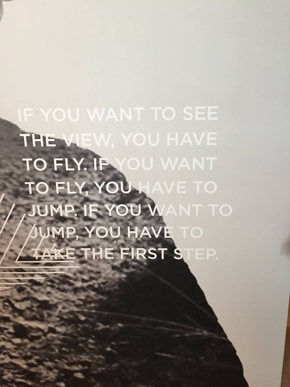 Quote in Oiselle Flagship Store