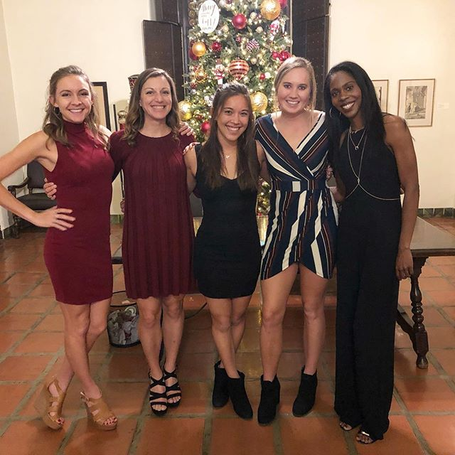 A photo where we aren't in running clothes, sneakers, and pony tails. I'd say we clean up pretty well. Another year celebrating SRA and CIM. Happy Holidays! . . . . . #nikkishaven #sacramentoblogger #holidayparty #sraelite