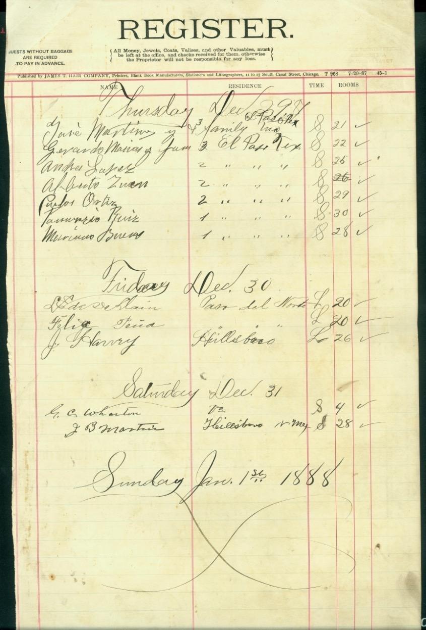 Amador Desk Register, December 1887
