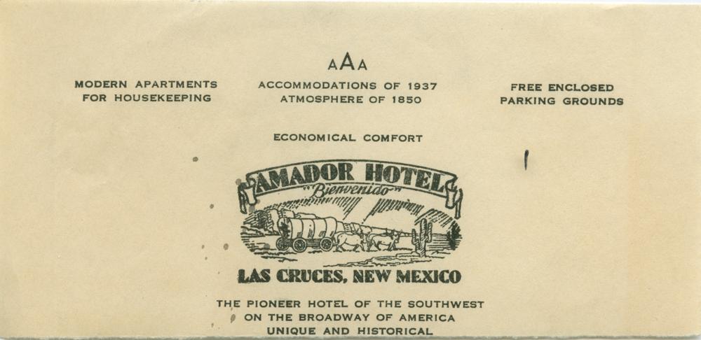 Hotel Stationery, 1937