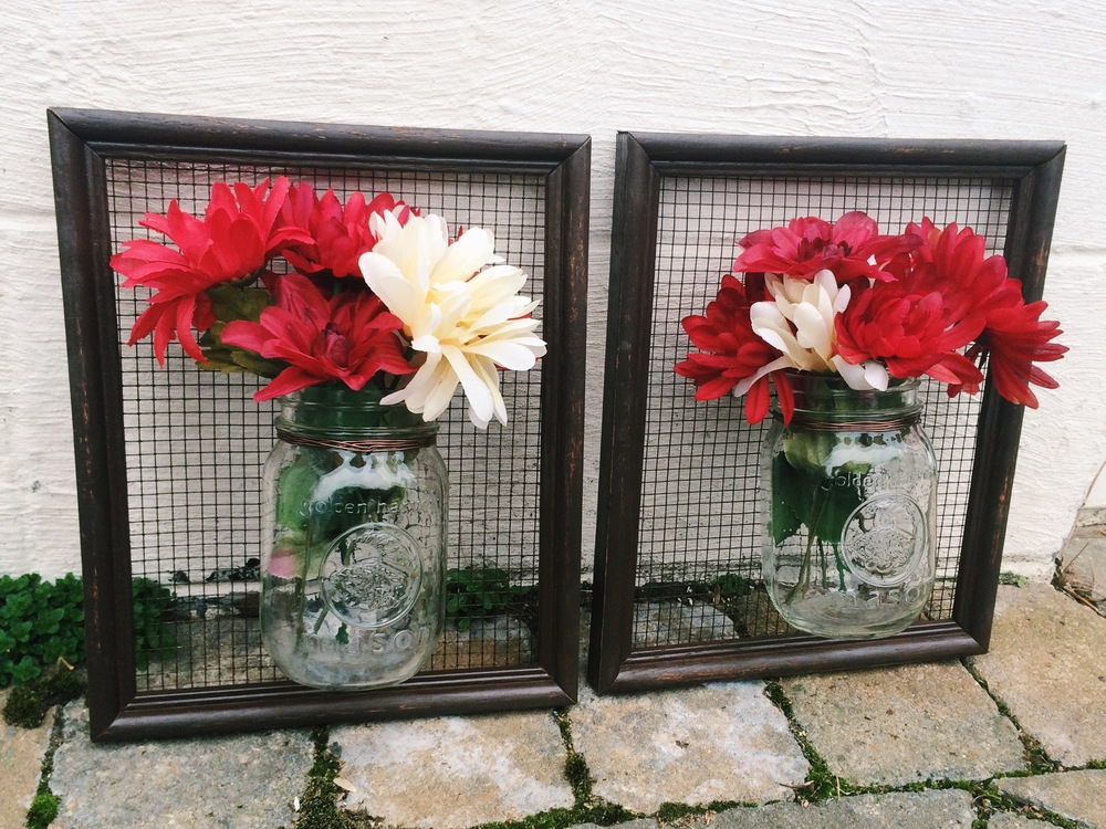 Framed Flower Vases With Hardware Cloth Or Chicken Wire Maria