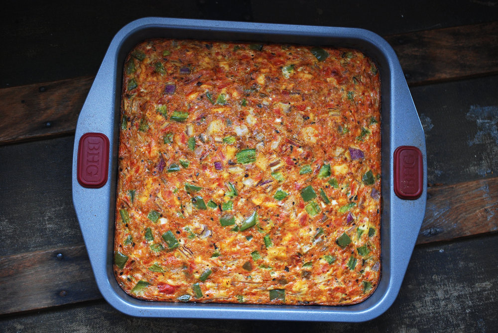 Fiesta Chicken Egg Bake Maria Makes Food Amp Diy Blog
