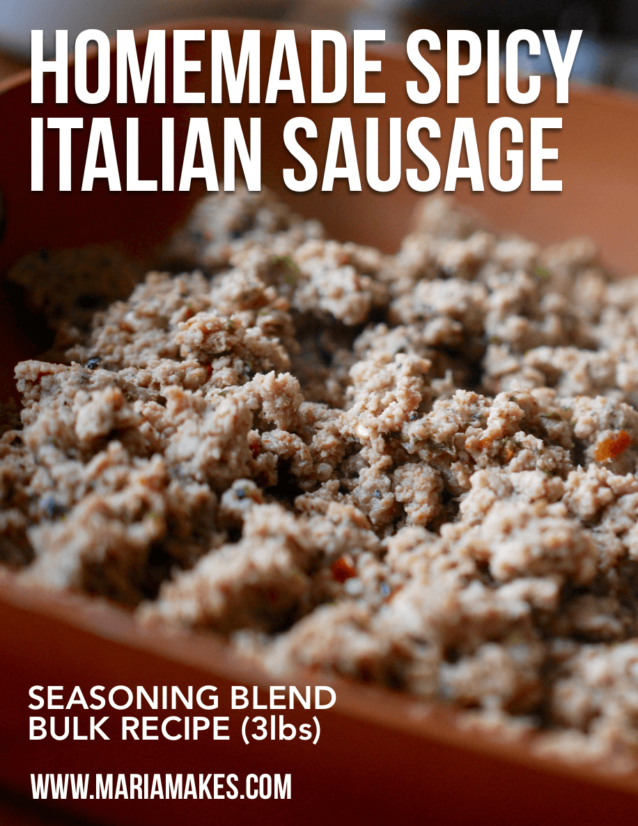 Homemade Spicy Italian Sausage (Seasoning Blend) – Maria Makes