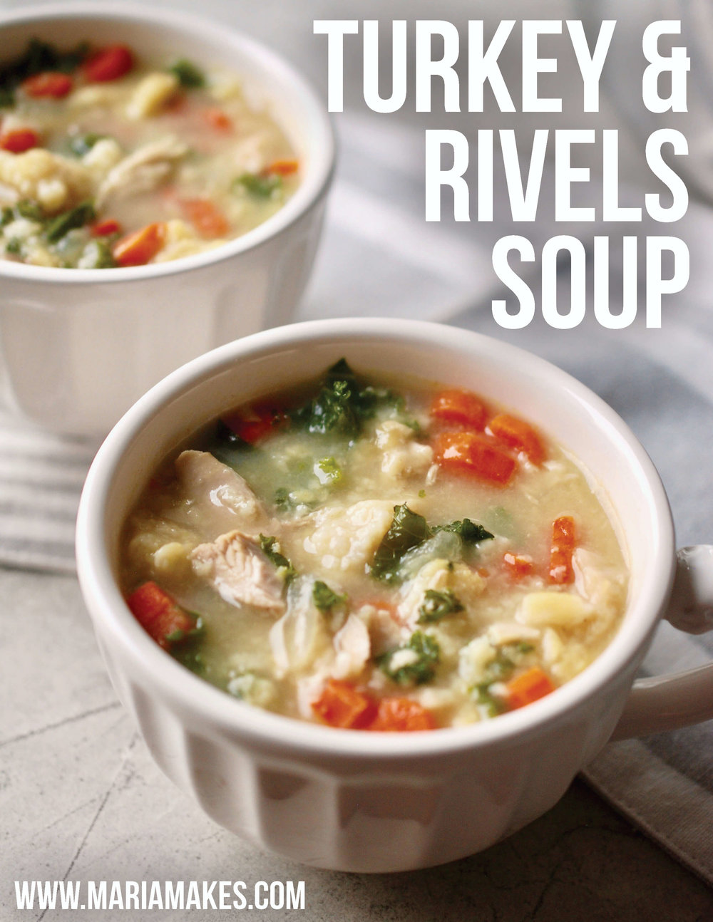 "Turkey & Rivels Soup – Maria Makes: A Pennsylvania Dutch tradition, ""rivels"" are tasty and hearty little free-form dumplings that will take your turkey or chicken noodle to the next LEVEL."