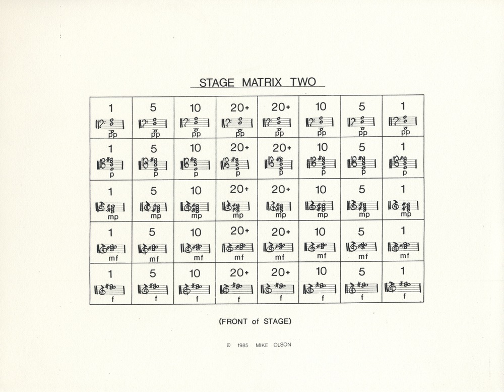 Stage Matrix 2