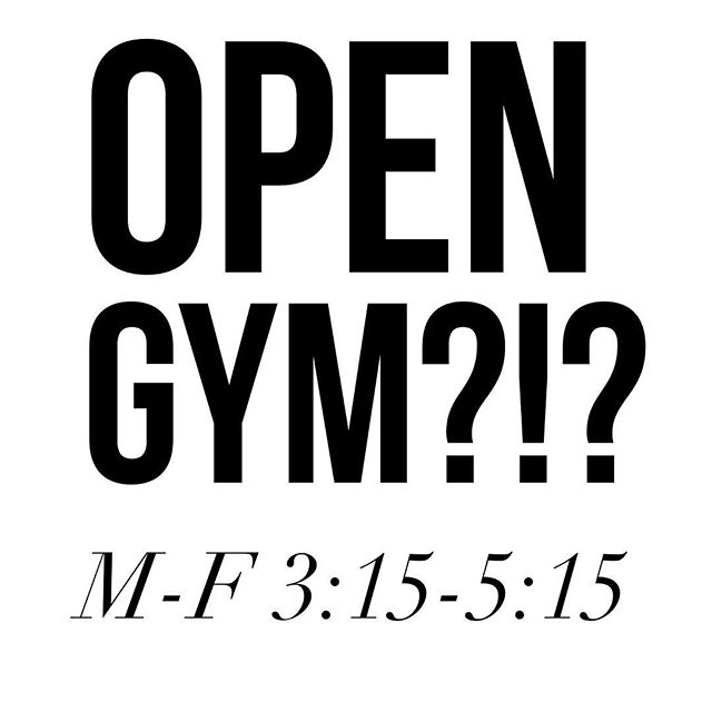 We are thinking about adding an open gym every weekday from 3:15-5:15pm beginning in a couple of weeks. This would be FREE for 3(65)ers and $5/day for others. The plan would be to have music on so you can ride if you'd like or we will have a workout of the day that you can follow. Comment below if you'd utilize this! #stlouis #core3fitness #stlfitness