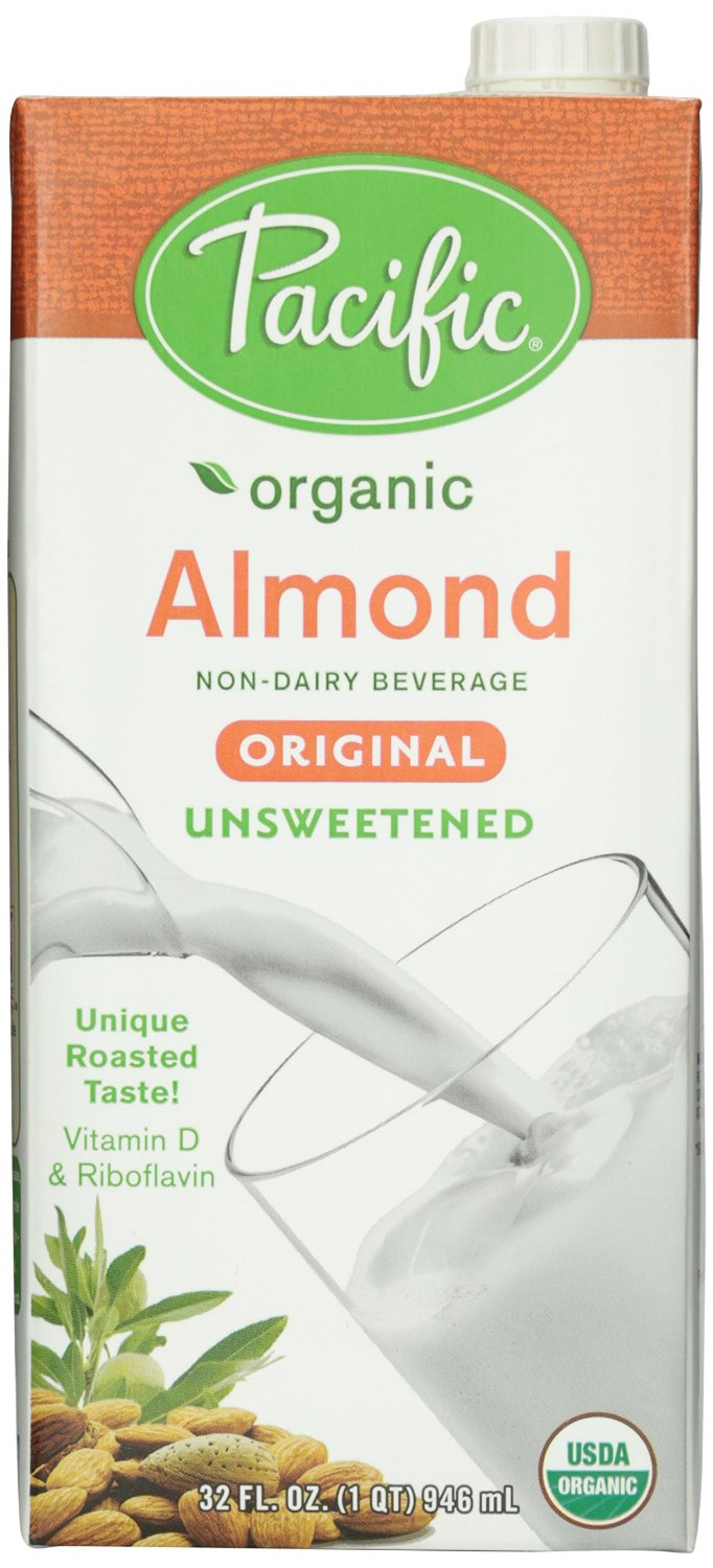 Pacific Foods Organic Original Almond Milk, Unsweetened