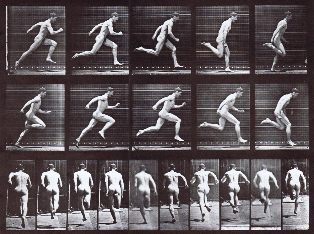Eadweard Muybridge Plate 63 - Nude Male Running at Full Speed
