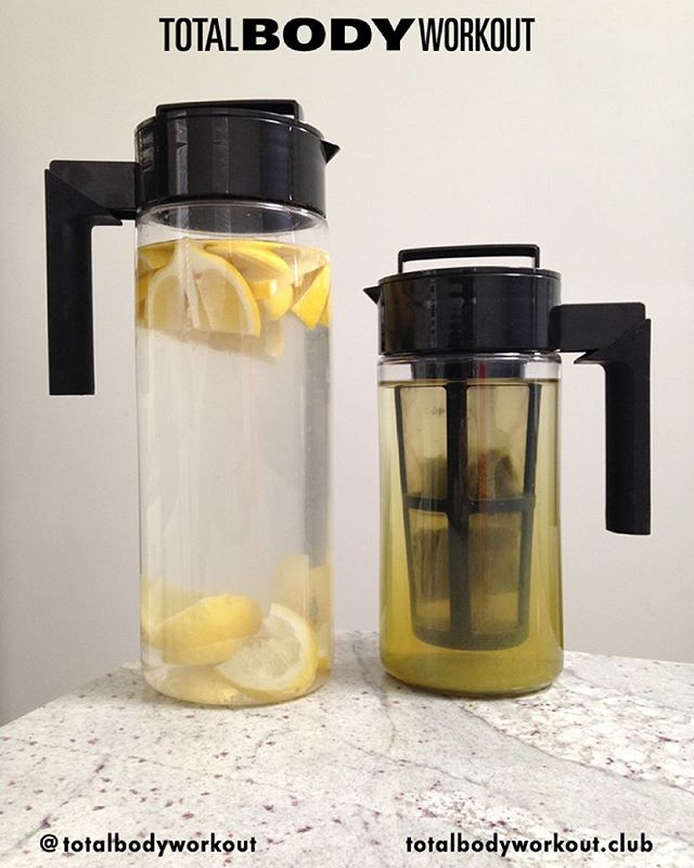 #Day6 🍋 START your day with one cup of each : #lemonwater and 🍵#greentea to supercharge your #metabolism and cleanse your organs. I stay #hydrated by always being prepared! These #Takeya water pitchers make it so easy! #noexcuses  #TOTALBODYWORKOUT  For health and fitness #inspo visit totalbodyworkout.club ✔️ Subscribe to our mailing list for weekly tips and #fitspo. Don't wait to join the #TBWCLUB 〰〰〰〰〰〰〰〰〰〰〰〰〰 #noexcuses #justdoit #eatclean #fitgirls #vfiles #girlswholift #fitnessaddict #miami #npc #npcbikini #ntc #nikewomen #bodybuilding #refinery29 #coolhunting