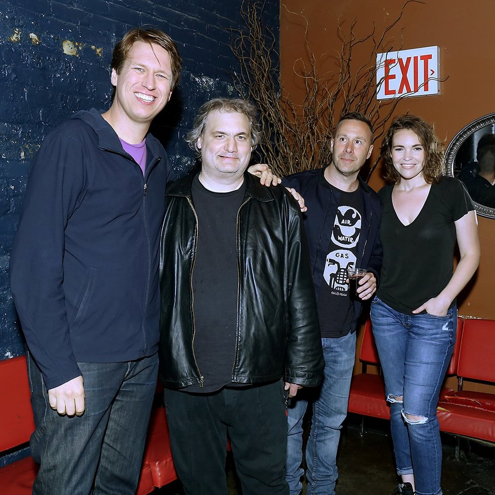 Crashing stand-up show at The Bell House, NYC promo for the Blue Ray release of Season 1 (HBO)     Pete Holmes, Artie Lange, Dov Davidoff and myself