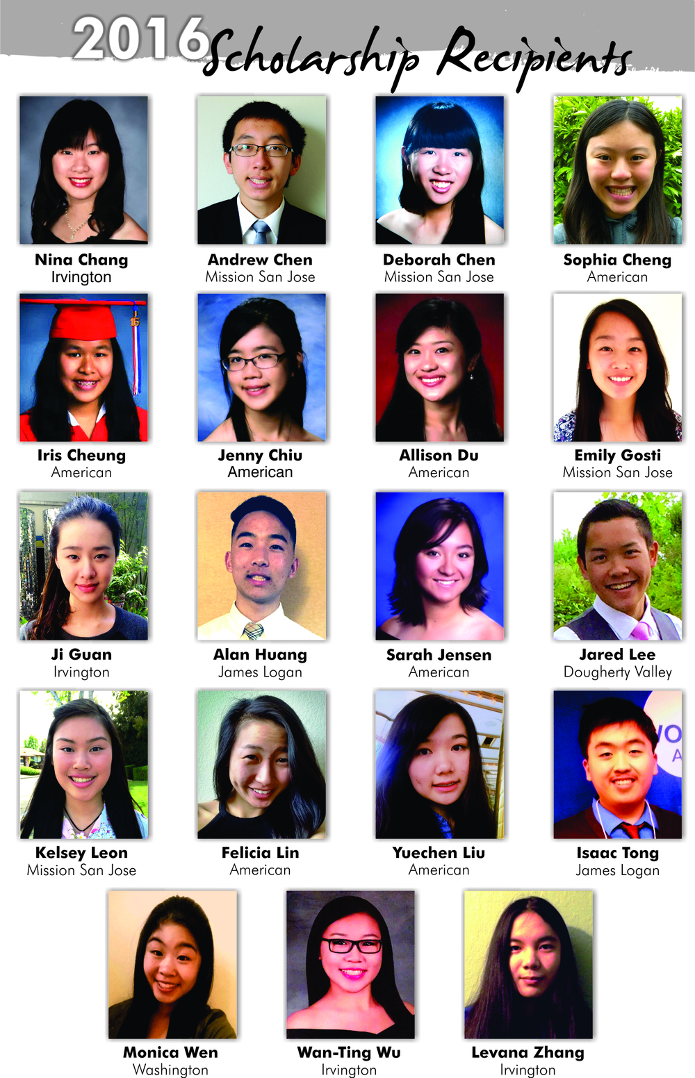 Scholarship Recipients 2016 JPG Hi Res