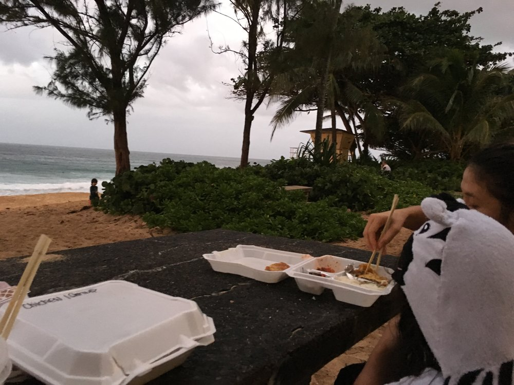 Dinner at the beach.