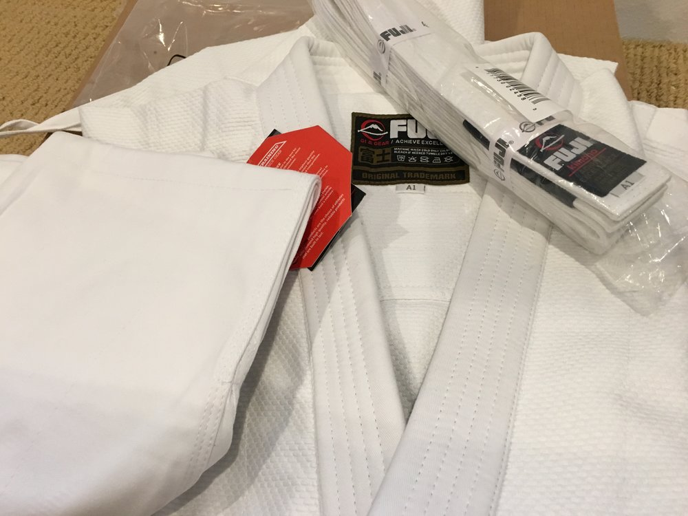 Got my first Jiu Jitsu Gi. Just a simple beginner one. Super psyched on it.
