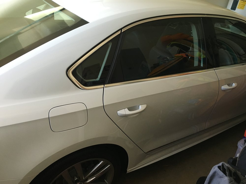White and black sedan life.