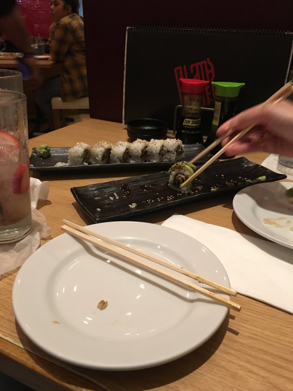 Twice in a day. Sushi.    Taxes and sushi making me pay.