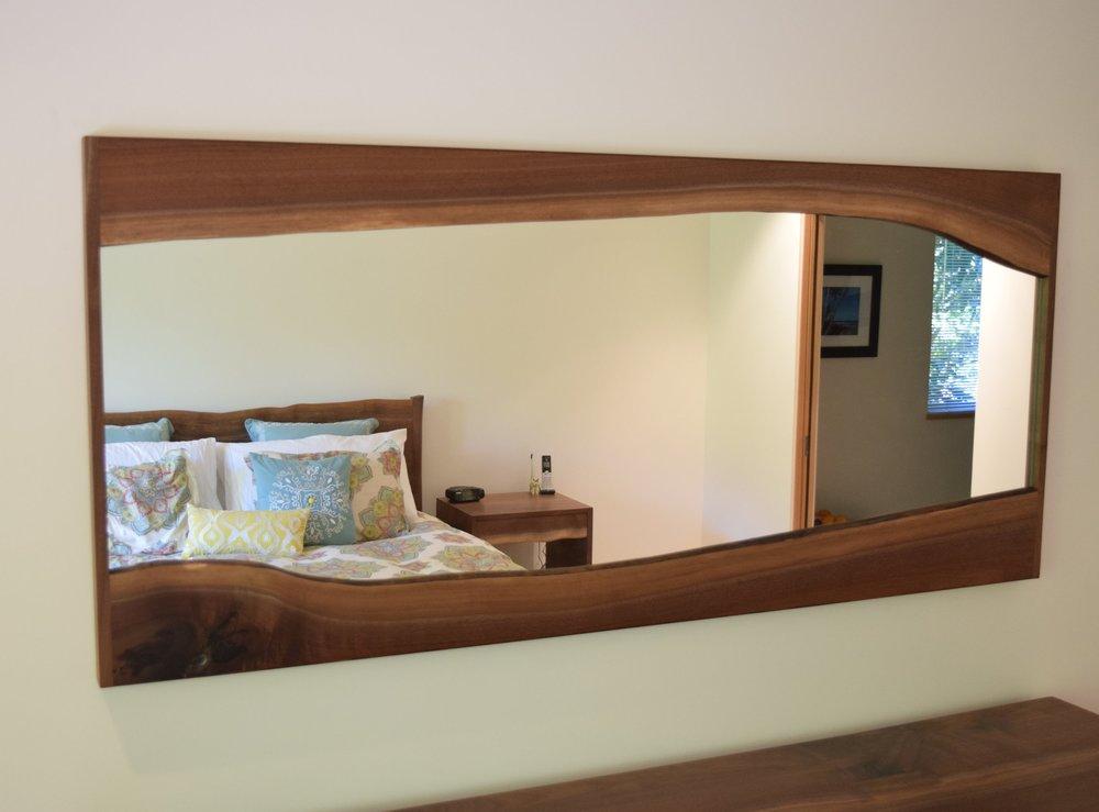 Live-edge Mirror Frame - Oregon Black Walnut