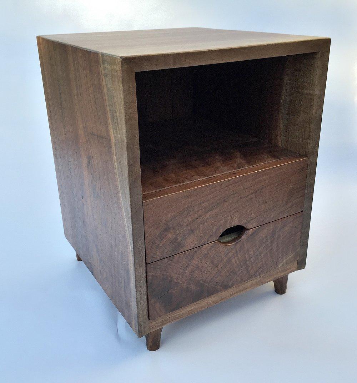 Two-Drawer Nightstand - Oregon Black Walnut