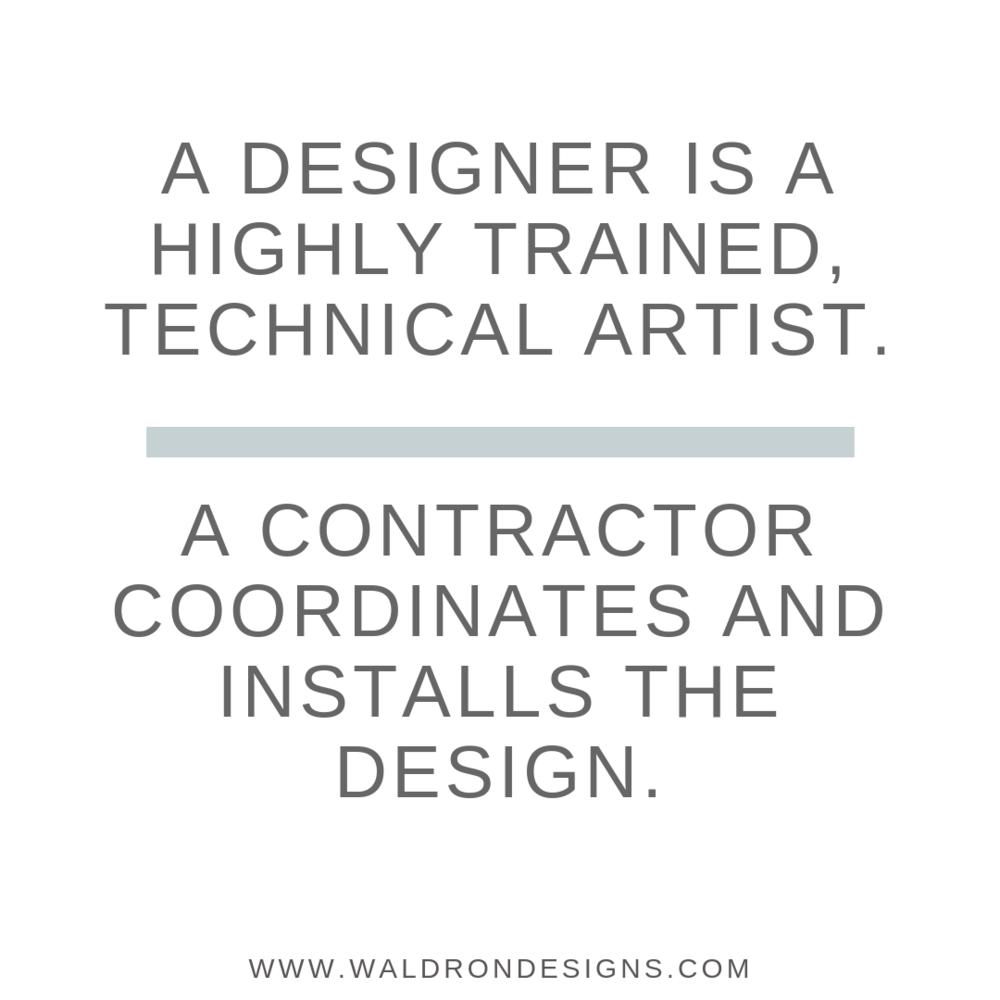 Contractor Vs Interior Designer